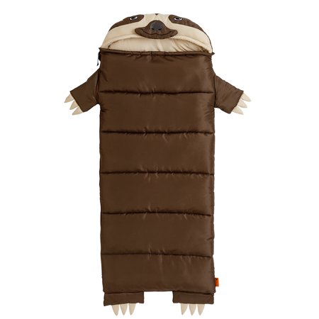 Ozark Trail Speedy the Sloth Kids' Sleeping Bag - Plush Sleeping Bag