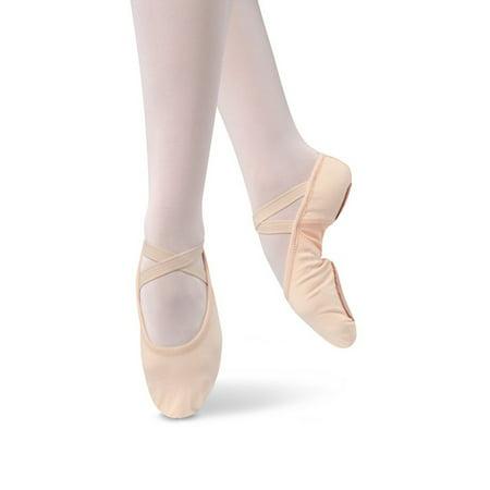 Danshuz Girls Pink Stretch Canvas Split Sole Ballet Shoes 10 Toddler-2.5