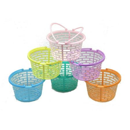Plastic Easter Basket (Plastic Pastel Round Baskets)
