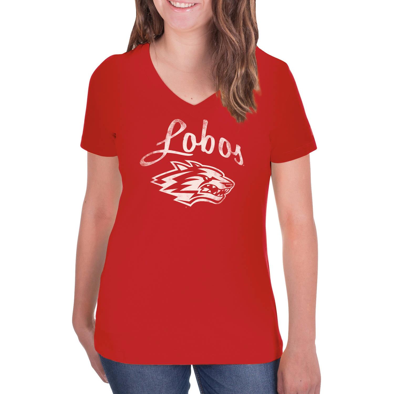 NCAA New Mexico Lobos Women's V-Neck Tunic Cotton Tee Shirt