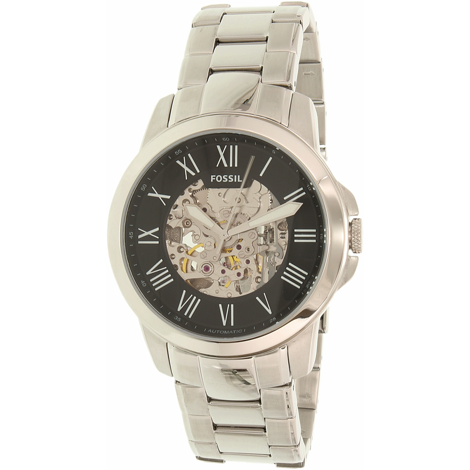 Fossil Men's Grant ME3103 Silver Stainless-Steel Plated Japanese Automatic Dress Watch - image 3 de 3