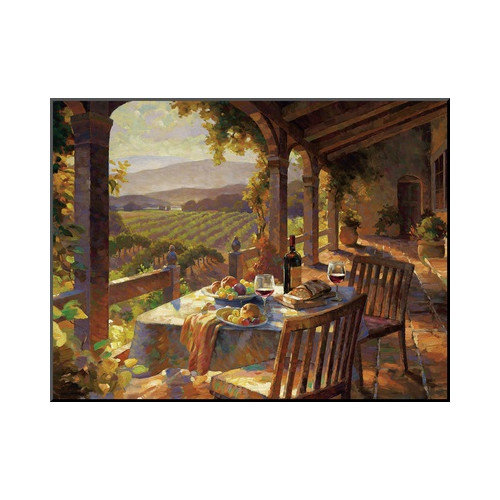 Wildon Home  'Wine Country Afternoon' by Leon Roulette Painting Print