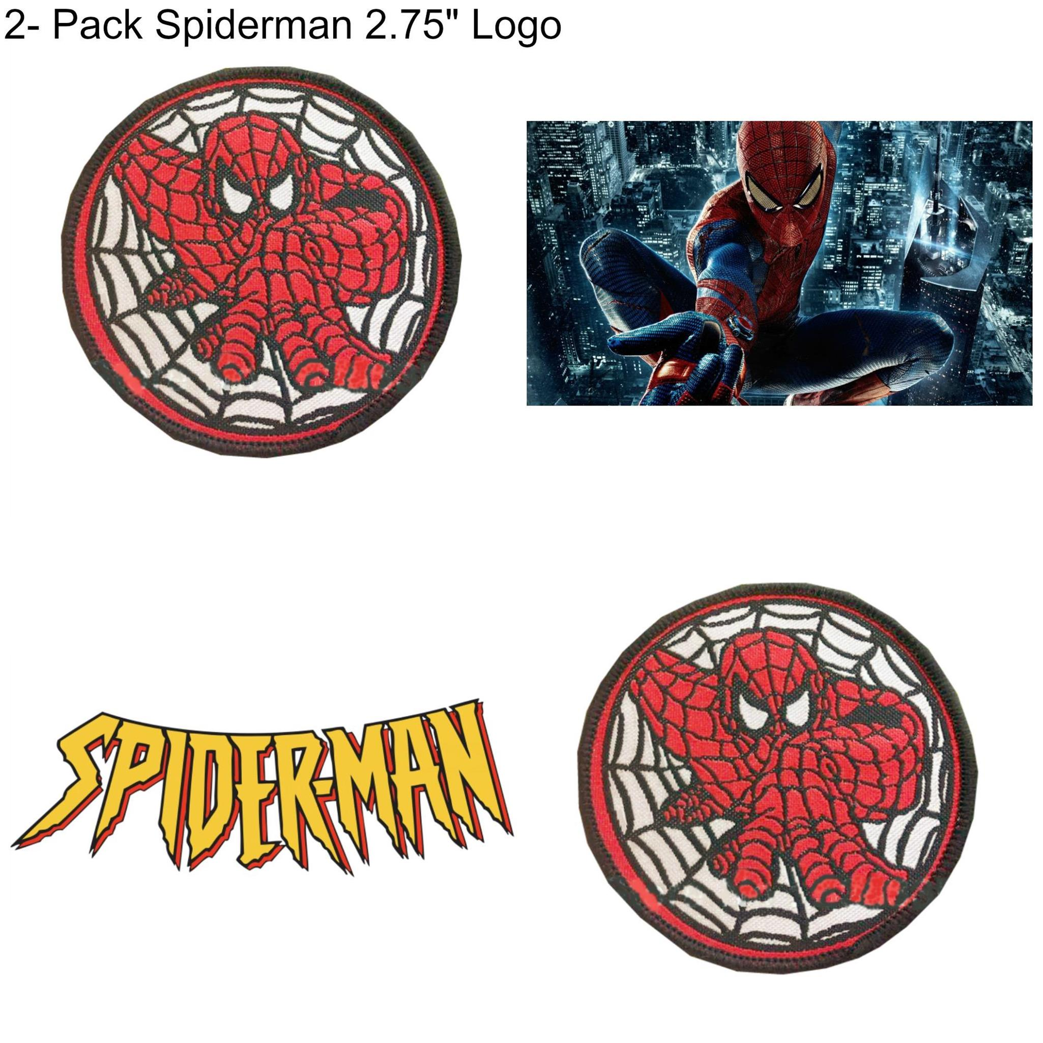 "Superheroes Marvel Comics ""Avengers"" Spider-Man Crawling 2.75"" (2-Pack) Embroidered Iron/Sew-on Applique Patches"