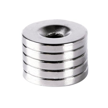 VICOODA N50 Strong Round Ring Magnets 20mm x 3mm Hole 5mm Ring Rare Earth Counterface Strong Neodymium