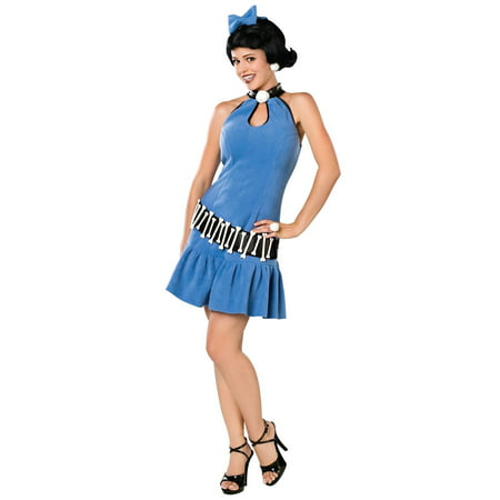 Betty Rubble Tm Adult - Wilma Flintstone And Betty Rubble Halloween Costumes