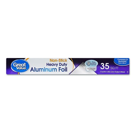 Great Value Non-Stick Heavy Duty 35 sq ft Aluminum Foil