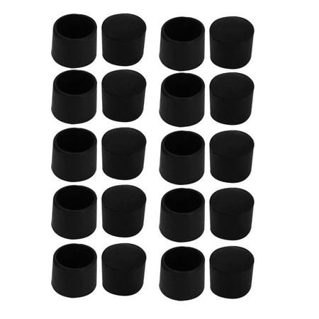 20Pcs Chair Leg Caps Rubber Floor Protector Furniture Feet Covers 25mm Inner Dia