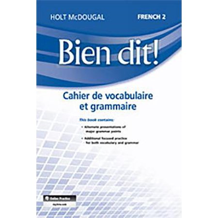 Bien Dit! : Vocabulary and Grammar Workbook Student Edition Level 2