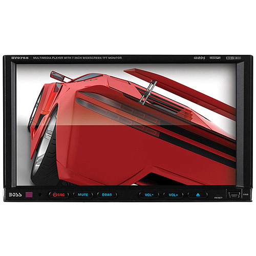 """Boss Audio BV9755 Double-DIN DVD/CD RDS Receiver with 7"""" Digital TFT Monitor"""
