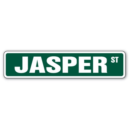"JASPER Street Sign Childrens Name Room Sign | Indoor/Outdoor |  24"" Wide"