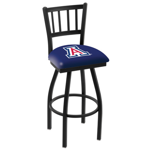 NCAA Swivel Stool with Jailhouse-Style Back by Holland Bar Stool, 25'' - Arizona Wildcats