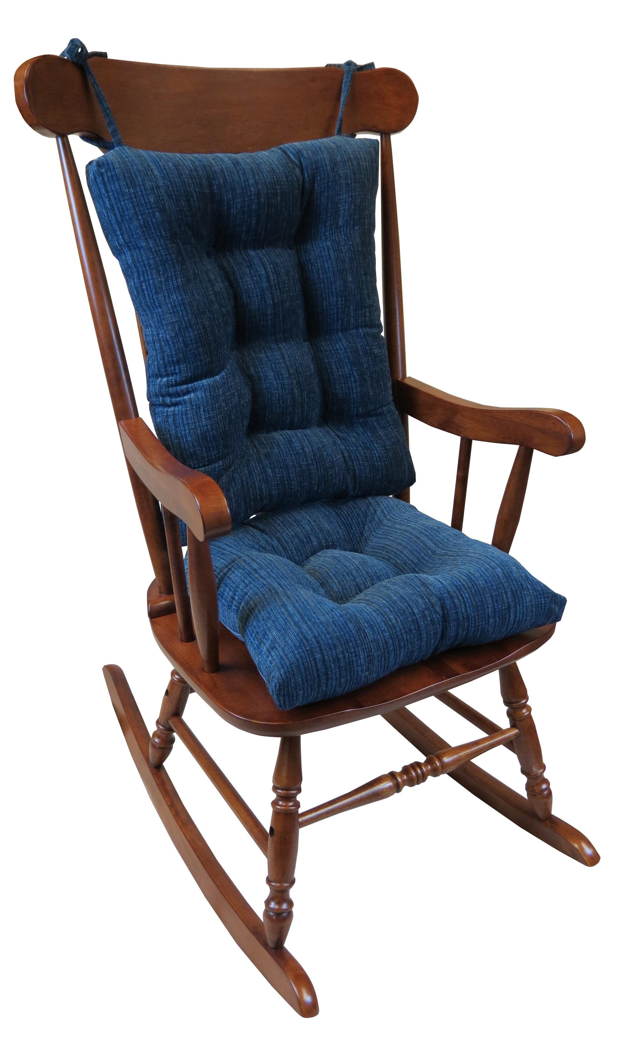 Gripper Non Slip Chenille Jumbo Rocking Chair Cushion Set