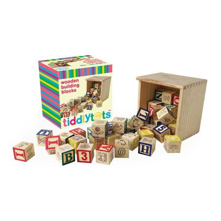- TiddlyTots Wooden Building Blocks