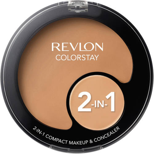Revlon Colorstay 2-in-1 Compact Makeup and Concealer, .42 oz
