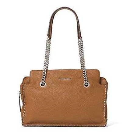 MICHAEL MICHAEL KORS ASTOR ACORN LEATHER LARGE SATCHEL (Michael Michael Kors Astor Large Satchel)
