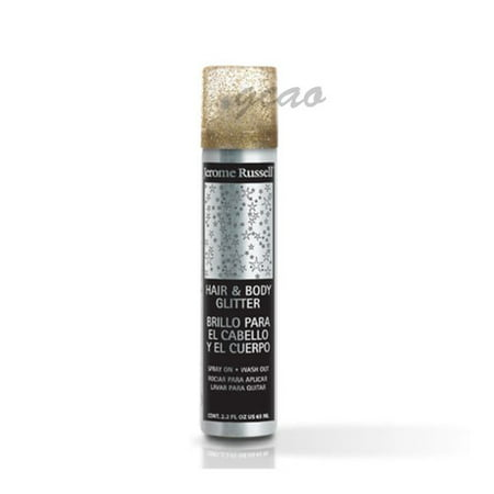 Jerome Russell Hair And Body Glitter Spray, Gold, 2.2 - Spray Hair Glitter