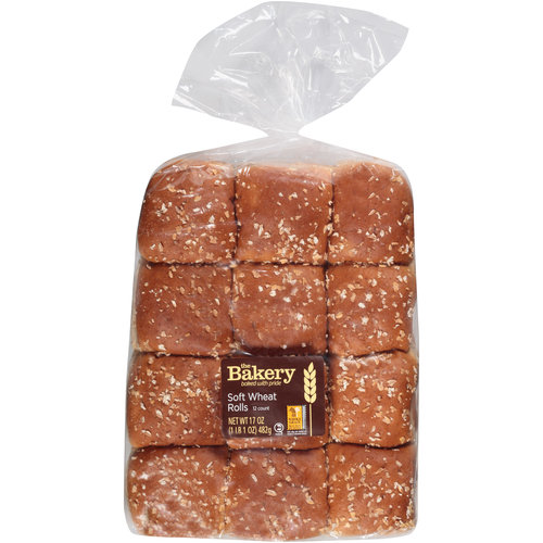 The Bakery Soft Wheat Rolls, 12 count, 17 oz