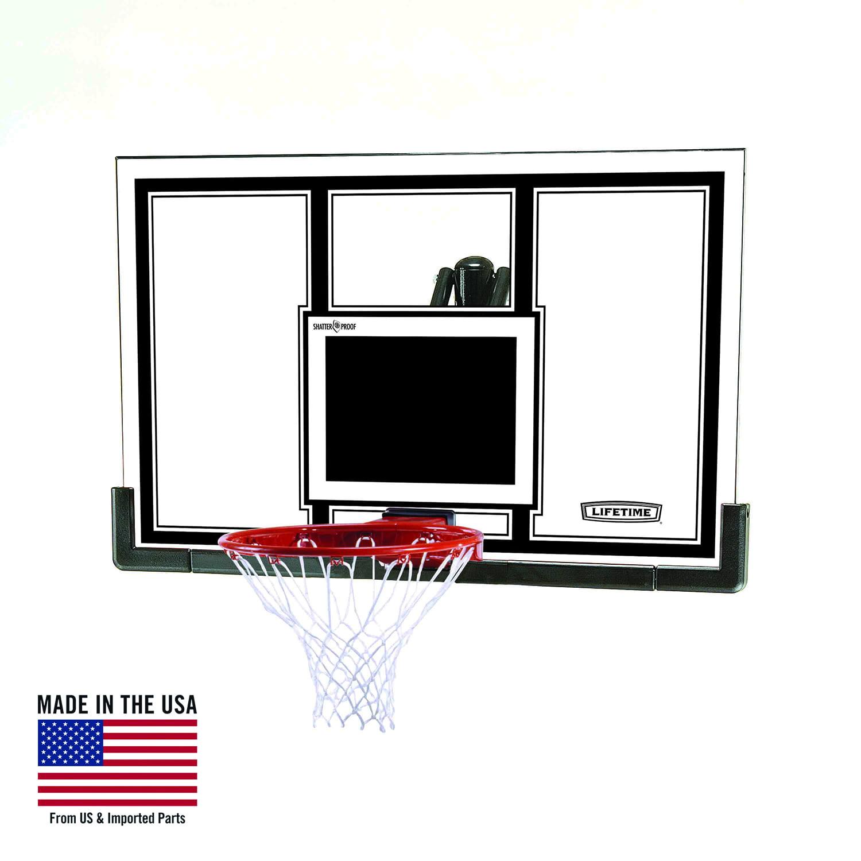 """Lifetime 54"""" Shatterproof Backboard and Rim Basketball Combo, 71526"""
