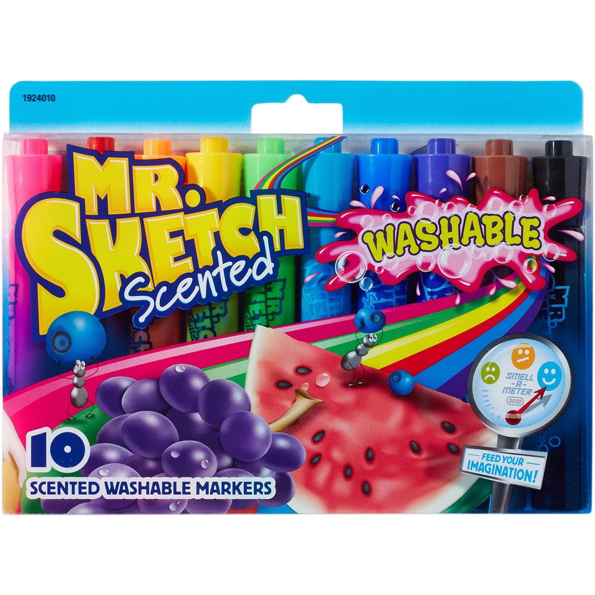 Mr.Sketch Scented Washable Marker Set, 10pk, Chisel