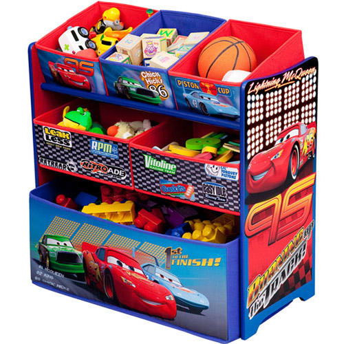Disney Cars Multi-Bin Toy Organizer