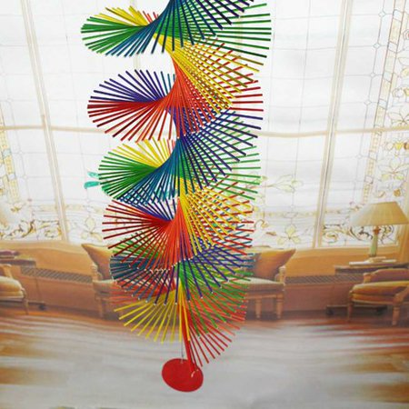 AkoaDa Rainbow Colors Twister Spinner Mobile Wind Chime DIY Home Garden Decor Novelty - Wind Chimes Diy