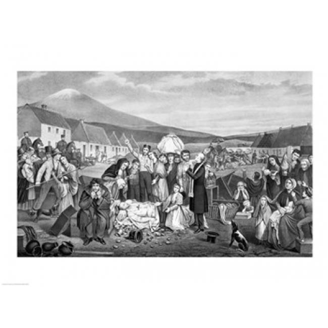 Posterazzi BALBAL111684LARGE The Eviction - A Scene From Life in Ireland Poster Print - 36 x 24 in. - Large - image 1 of 1