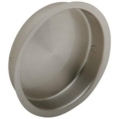 Ives 221B15 Satin Nickel Finish Round Sliding Door Flush -