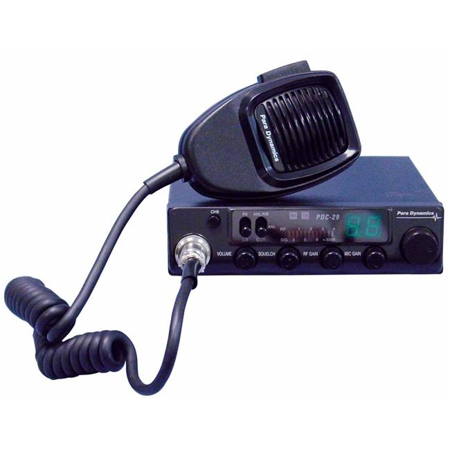 Para Dynamics PDC29 40 Channel Compact Mobile CB Radio with RF Gain, Mic Gain, PA, Instant Channel 9 & Noise Filters
