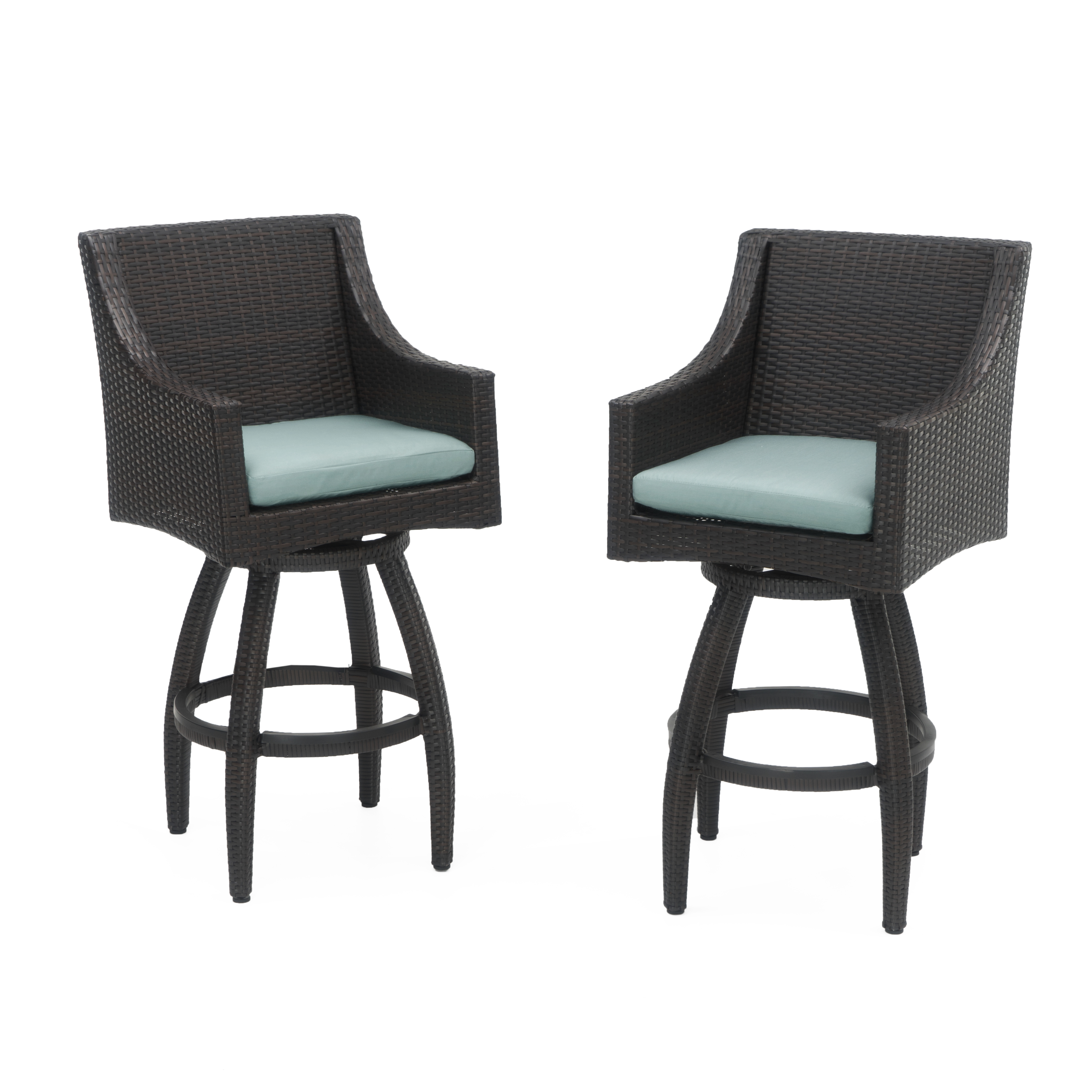 Deco Set of 2 Swivel Barstools in Bliss Blue by RST Brands