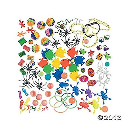 100 pc small toy assortment- great for crane game refills and