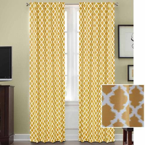 Better Homes and Gardens Tangier Room Darkening Curtain Panel, Rod Pocket by Colordrift LLC