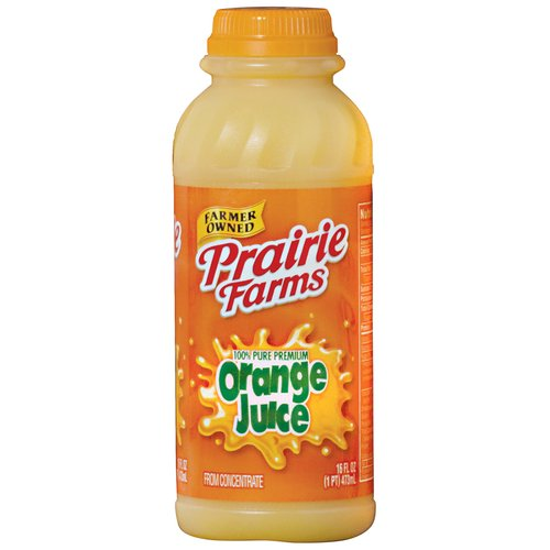 Prairie Farms Orange Juice, 1 Pint