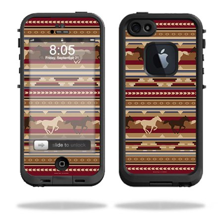 MightySkins Skin Compatible With LifeProof iPhone 5 Case 1301 fre – Western Horses | Protective, Durable, and Unique Vinyl wrap cover | Easy To Apply, Remove, and Change Styles | Made in the USA (Horse Protective Case)