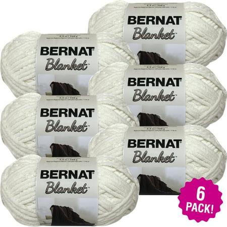 Blanket Yarn (Bernat Blanket Yarn - Vintage White, Multipack of 6 )