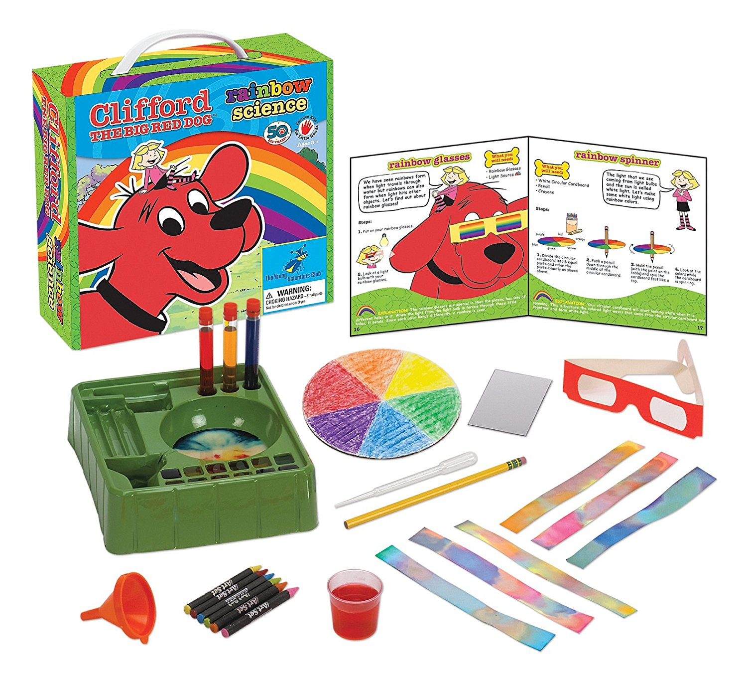 Young Scientist Club Rainbow Science with Clifford The Big Red Dog