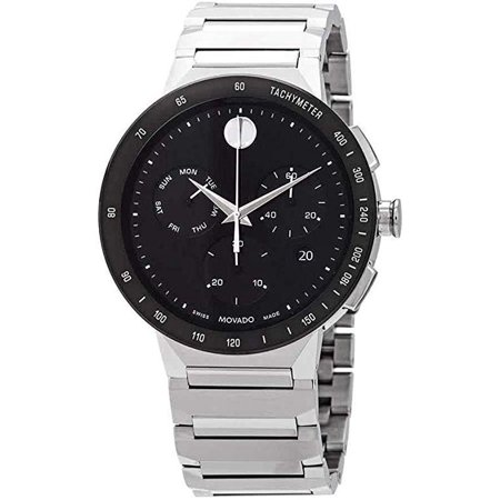 Movado Sapphire Chronograph Stainless Steel Mens Watch 0607239 Movado Sapphire Wrist Watch