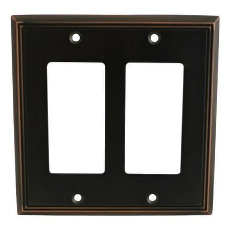 Light Switch Gfi Double Plate (Cosmas 65088 Oil Rubbed Bronze Double GFI / Decora Wall Plate )