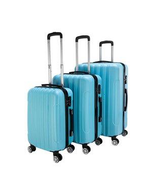 "3-Piece Suitcase Sets on Sale, SEGMART Lightweight Hardshell Luggage with TSA Lock, Heavyweight Carryon Suitcase Set: 20""/ 24''/ 28"", Large Capacity Storage for Traveling, Blue, S13245"