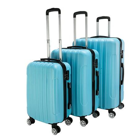 3-Piece Suitcase Sets on Sale, SEGMART Lightweight Hardshell Luggage with TSA Lock, Heavyweight Carryon Suitcase Set: 20