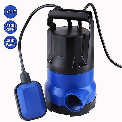 New MTN-G 2100GPH Submersible Clean Dirty Water Pump 1/2HP Flooding