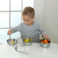 KidKraft Deluxe Cookware Set with Food