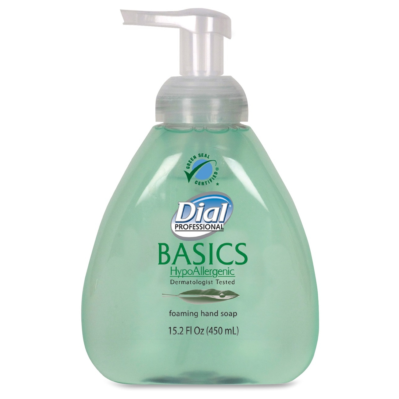 Dial Basics Foaming Soap W/ Aloe - Fresh Scent Scent - 15.20 Oz - Pump Bottle Dispenser - Hypoallergenic - Green - 4 / Carton (98609ct)