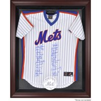 New York Mets Fanatics Authentic Mahogany Framed Logo Jersey Display Case - No Size