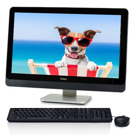 "Dell (9020RF) Optiplex 9020 23"" HD All in One Desktop Computer Intel Quad Core i5 Processor 8GB 128GB SSD Webcam Wifi Bluetooth Windows 10 Keyboard and Mouse - Refurbished"