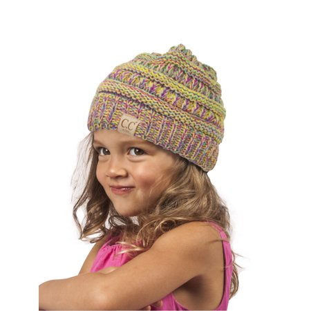 Rainbow Beanie - Gravity Threads Kids Multi-Tone Beanie