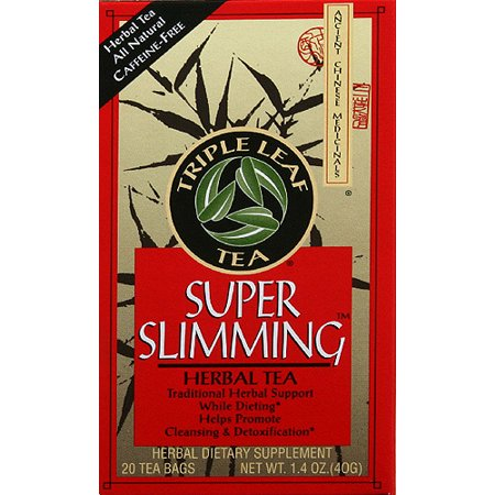 Triple Leaf Tea Super Slimming Herbal Tea, 1.4 oz, (Pack of 6) Chinese Herbal Slimming Tea