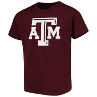 Texas A&M Aggies Russell Athletic Youth Oversized Graphic Crew Neck T-Shirt - Maroon