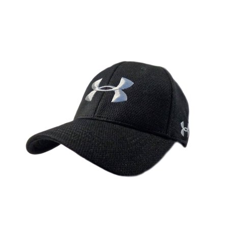 NEW Under Armour Performance Heat Gear Black Silver Fitted Small Medium Hat  Cap - Walmart.com d00637ea797