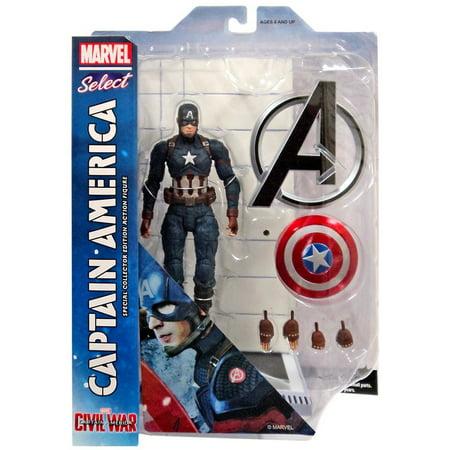 Marvel Select Captain America Action Figure [Civil War]
