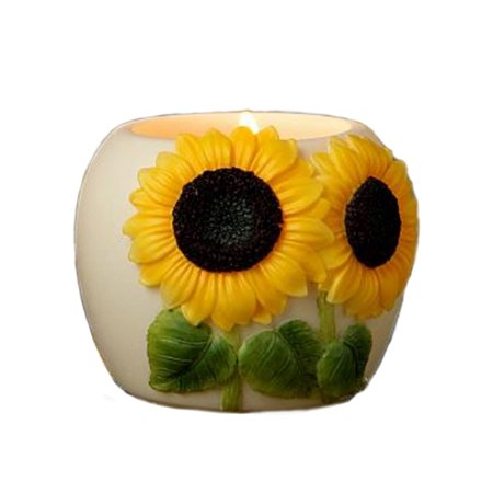 Retired Ibis & Orchid Design Sunflower Flowers of Light Votive